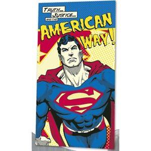 DC-Comic-Superman-Badetuch-Strandtuch-Handtuch-Velour-140x70cm-towel