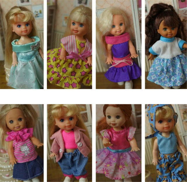 5set Cute Handmade Clothes Dress For Mini Kelly Mini Chelsea Doll Outfit ^mx