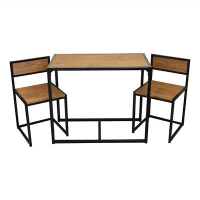Small Dining Table Chair Set Industrial Style Kitchen Space Saver