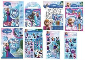 DISNEY FROZEN ANNA, ELSA & OLAF Activity & Colouring Packs, Stickers ...