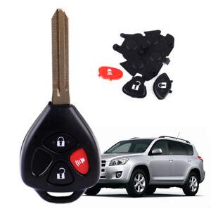 Case  3 Button Car Remote Key Shell  For Toyota RAV4 Yaris Venza Matrix Scion