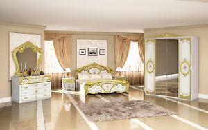 Delightful Das Bild Wird Geladen Schlafzimmer Barock Stil Julianna 4 Teilig Weiss Gold