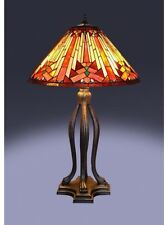 Tiffany Style Table Lamp Stained Glass Southwest Mission Craftsman Victorian