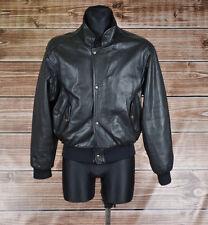 Chevignon Vintge Flying Leather Bomber Jacket Size 16 Fits Men S Women L