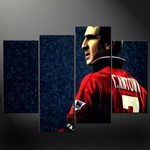 ERIC CANTONA PAINTING STYLE CASCADE CANVAS PRINT WALL ART PICTURE READY TO HANG
