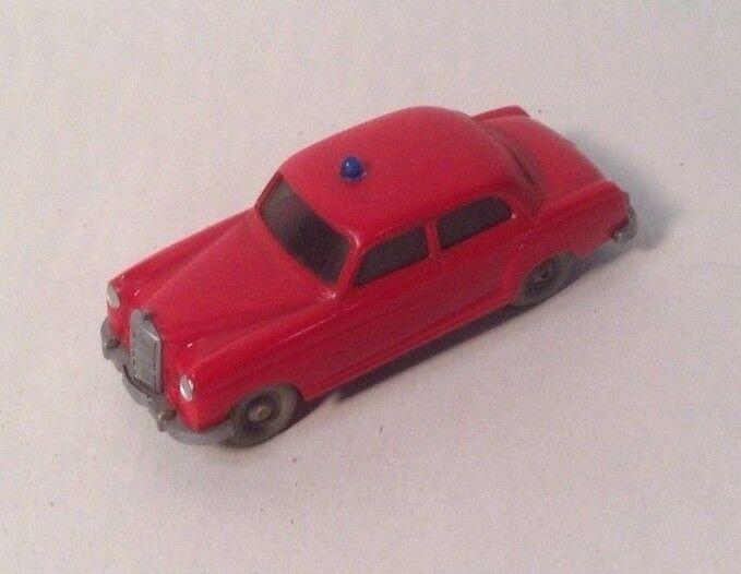 garantizado Vintage Vintage Vintage Wiking Alemania Ho 1 87 60 Mercedes Benz Coche Jefe De Bomberos 220  saludable