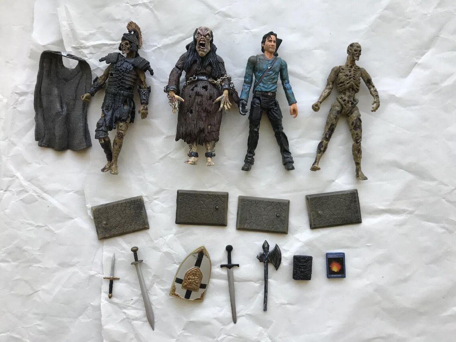 Evil Dead Army Of Darkness 3.75 azione cifras Ash e Deadites 4 cifras
