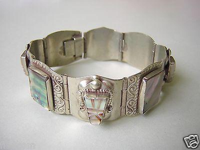 Freundschaftlich Versilbertes Armband Mit Schöner Perlmutt Einlage 35,9 G / Länge Ca 18 Cm