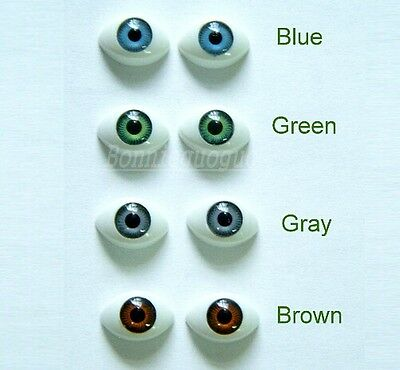 100PCS(50pairs) Wholesale Plastic OVAL DOLL EYES Choose Color Doll Eye Troll Eye
