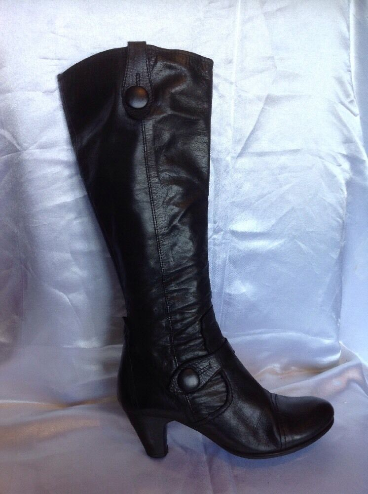 Nine West Black Knee High Leather Boots Size 36