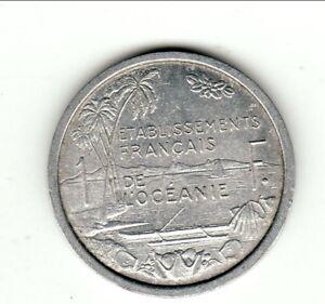 Original Etablissement Oceanie 1 Franc Alu 1949 Spl Approvisionnement Suffisant