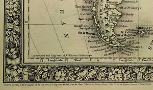 1860-Mitchell-039-s-Huge-Hand-Tinted-POLITICAL-DIVISIONS-Map-SOUTH-AMERICA-N-Granada