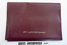 Porsche 911 964 Carrera 930 Turbo 928 944 Owners Manuals Case Jacket Pouch N161