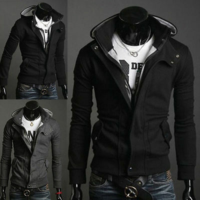 Best Men's Slim Fit Stylish Sweatshirt Hoodies Hooded Casual Coat Outwear Jacket