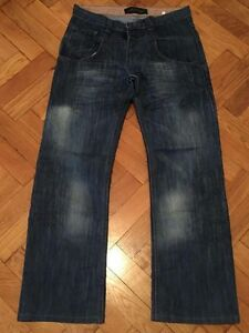 Distressed Taille Ed Men Jambe Droite Hardy 30 32 Blue Jean BwwIPqE7