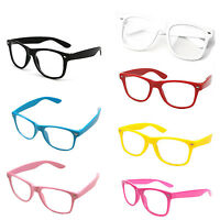 Wayfarer Glasses Clear Lens Nerd Geek Party Retro Vintage Trendy Sunglasses A27