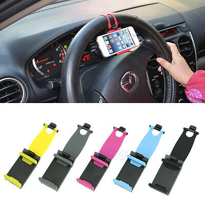 Universal Car Steering Wheel Bike Clip Mount Holder For iphone Phone Samsung GPS