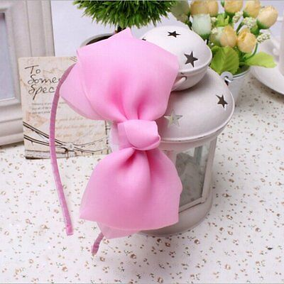 Children Kids Girls Hair Band Bow Chiffon Princess Headband Hair Accessories