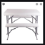 thumbnail 2 - Portable Table And 2 Benches Set Folds Flat For Easy Storage And Transportation