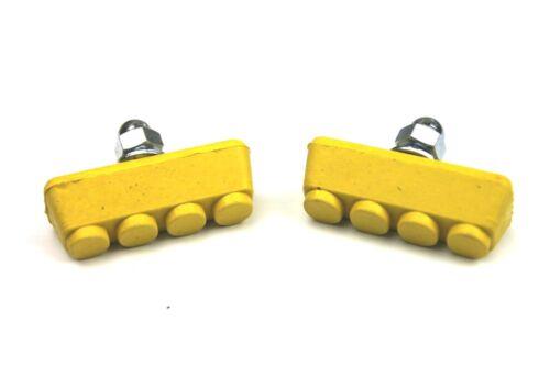 ProBMX BMX Brake Pads Yellow Old School Skyways Tuffs Style BMX Works