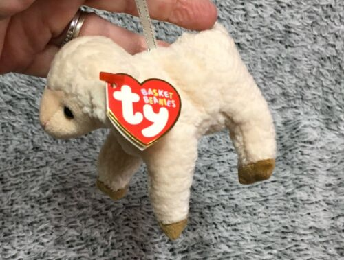 Ty Beanie Babies Basket Beanies Easter Lamb Ewey Plush Retired Stuffed Animal