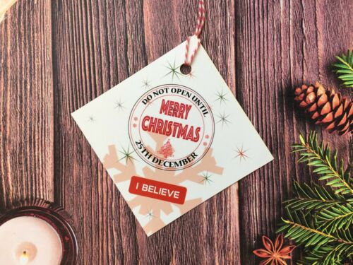 10X Craft Christmas Gift Tags Labels Gift Traditional Vintage White Xmas XS101