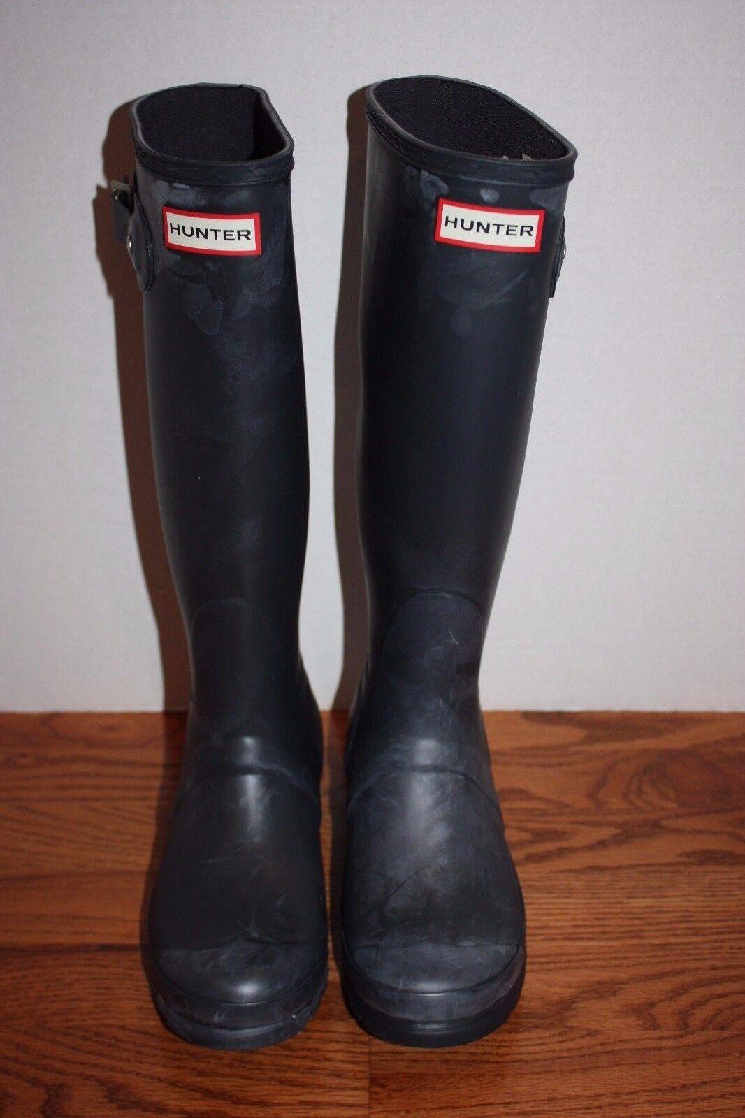 damen Hunter Original Distressed Tall Navy Blau Rain Stiefel Stiefel Stiefel 664733