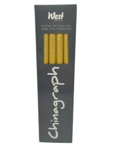 Chinagraph Marking Pencils Yellow Box of 12