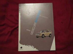 Image Is Loading 2010 Mercury Mariner Factory Quick Reference Owners Manual