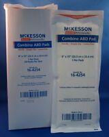"Lot Of 24 STERILE COMBINE ABD PADS 8"" X 10"" MCKESSON 16-4254 Wound Care Health Aids"