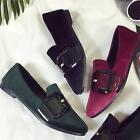 Fashion Women's Slip-On Flats Slippers Ballerina Casual Suede Leather Peas Shoes
