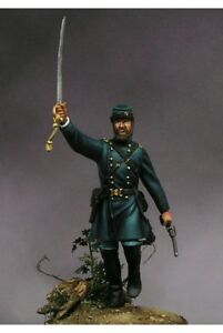 Union-Officer-at-American-Civil-War-54mm-1-32-Tin-Painted-Toy-Soldier-Art