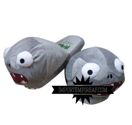 Plants CONTRO zombies slippers ZOMBIE plants vs zombies grey 2 slippers slippers