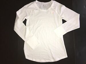 JUSTICE GIRLS 14 NWT SOLID WHITE LONG SLEEVE TOP SHIRT 14 NEW