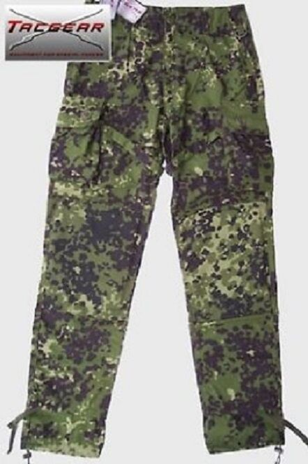 Dänische Armee DK M84 TACGEAR Kommando Feldhose Danish camo pants Hose L