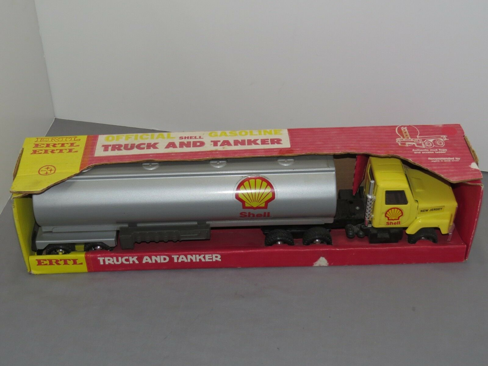 Vintage Shell Oil semi Camion citerne remorque ERTL New in Box 20 in (environ 50.80 cm) New Jersey spécial