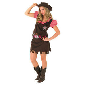 Femmes ouest sauvage western cowgirl costume déguisement-adulte ouest cowgirl costume