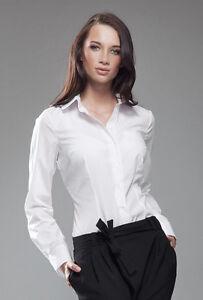 double coupon grande remise styles classiques Détails sur Chemise femme blanche manches longues mode haut NIFE k35 coton  36 38 40 42 44