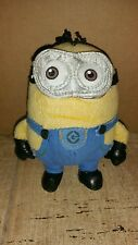 Despicable Me 2 Dave Plush Doll Key Chain 5 Inch Minion Clip on Mini Coin Bag-ah