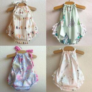 Newborn-Baby-Girl-Summer-Flower-Clothes-Romper-Jumpsuit-Bodysuit-Sunsuit-Outfits