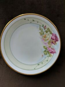 Details About ANTIQUE GOTHAM AUSTRIA HAND PAINTED ROSES CHINA CABINET PLATE