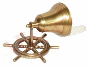 Nautical-Brass-Made-Wall-Bell-Door-Bell-Collectables