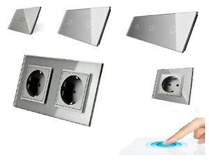 Livolo Glas Touch Schalter Lichtschalter Steckdosen Wechselschalter