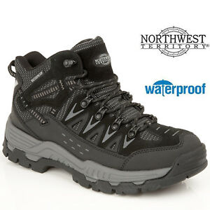 438b00b0a8b Details about MENS NORTHWEST BLACK LEATHER WALKING HIKING WATERPROOF ANKLE  BOOTS SHOES TRAINER