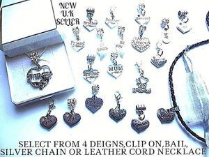 Personalizado-Bail-Clip-Para-Pulsera-Y-Cadena-De-Plata-El-cordon-de-cuero-collares