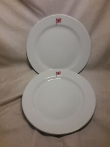 Pair-of-Lunch-Plates-81-2-034-Dunn-amp-Bennett-Royal-Doulton-Group-Naval-Hotel-Ware