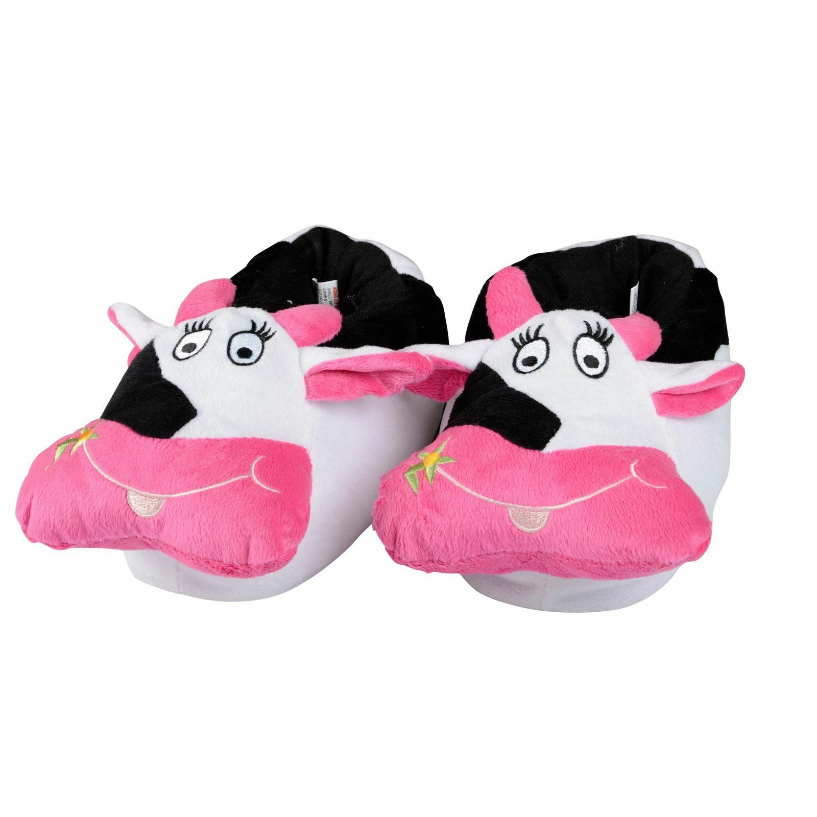 Ladies Girls Pink Fluffy Giant Hairy Feet 3D Novelty Bootie Slippers Size S M L