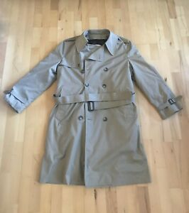 London Fog Men S Trench Coat Removable Liner Double Breasted 40 Reg Ebay