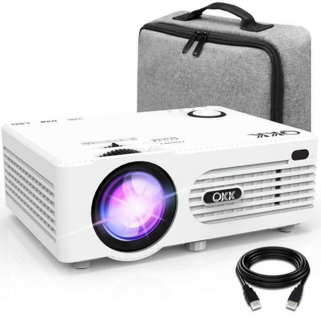Qkk ak-80 projecteur blanc vidéo de 3 800 lumens - compatible avec hdmi, vga, u…