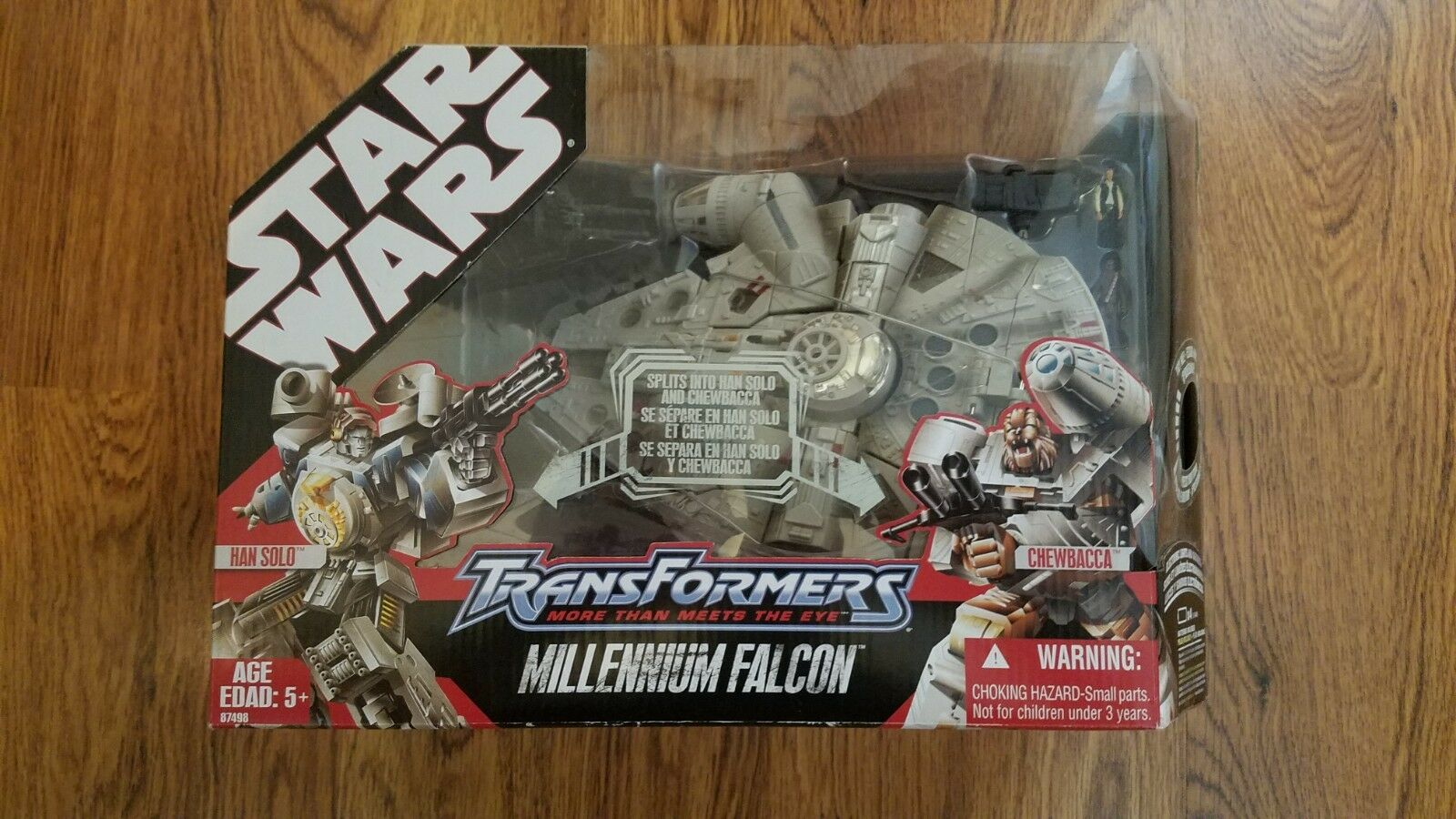 TRANSFORMERS Star Wars MILLENNIUM FALCON Han Solo Chewbacca Action Figures RARE